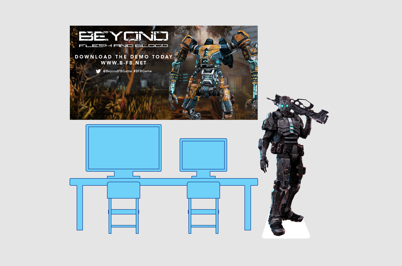 Beyond Flesh and Blood Event Stand Design 01