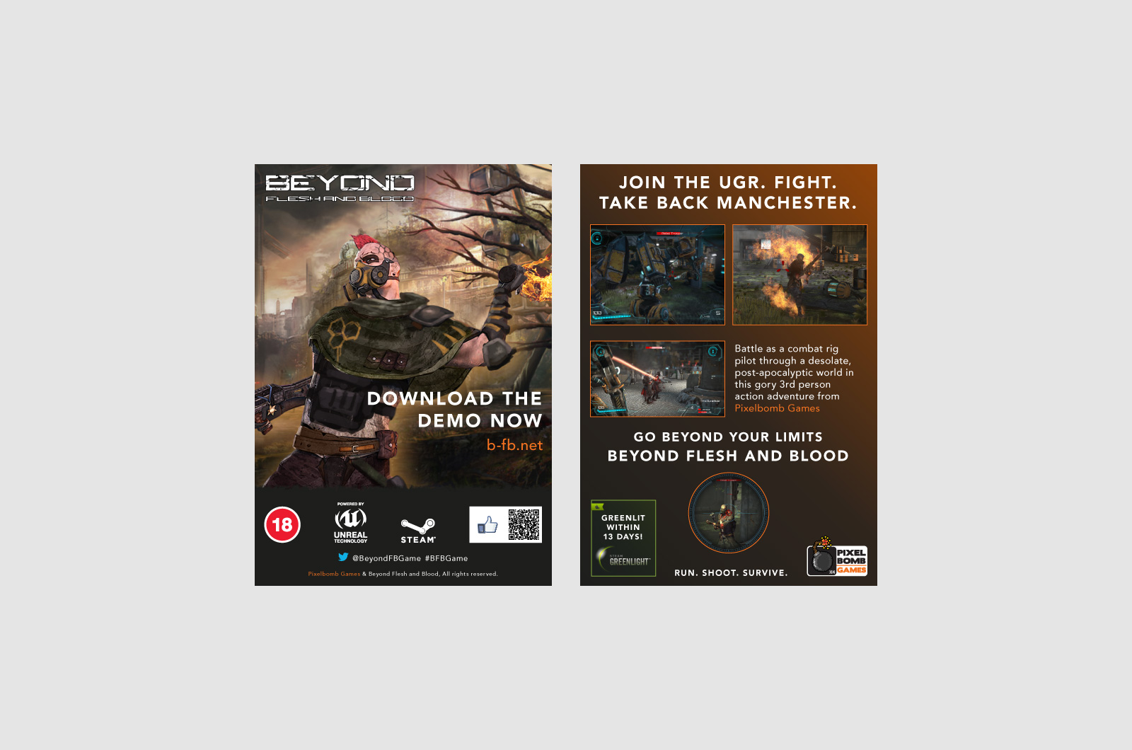 Beyond Flesh and Blood Printed Event flyer 01